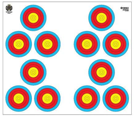 Fivics Indoor 20cm Triangular Triple Target Face