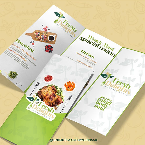 Brochure/ Menu