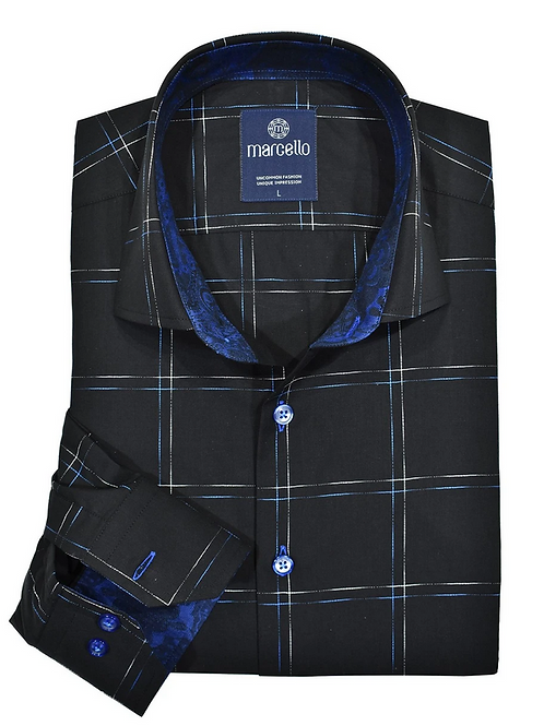 Marcello - W218 Two Color Shadow Plaid Shirt