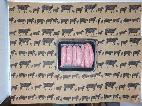 6 plain sausage 450g