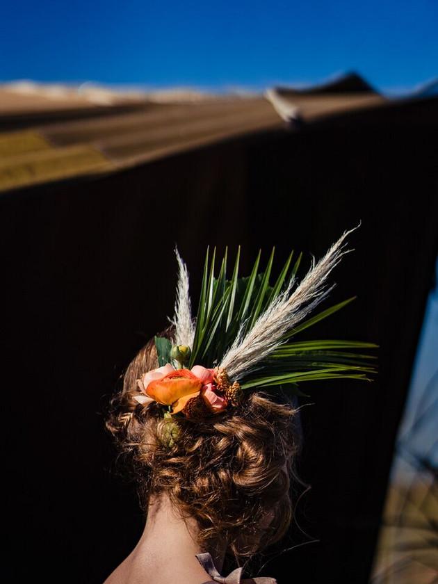 modern prairie wedding hair