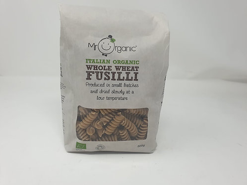 Mr Organic Whole Wheat Fusilli Pasta 500g
