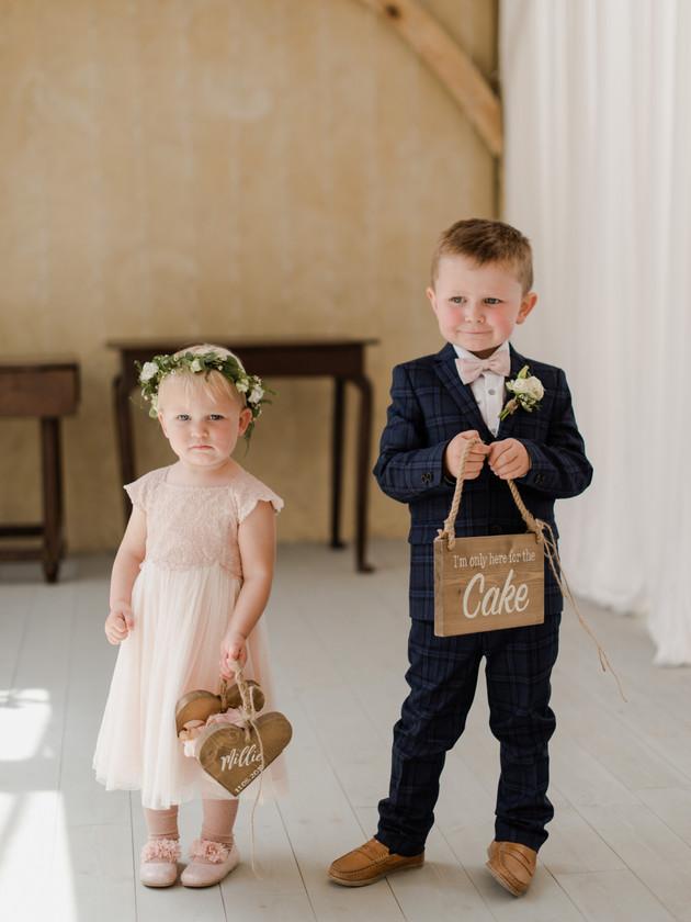 page boy and bridesmaid