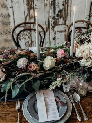 decedent wedding place setting