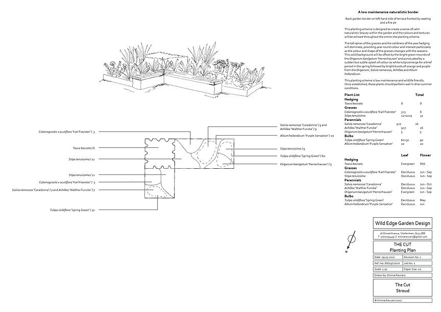 Wild Edge Garden Design, Stroud, Gloucestershire, Planting Plan