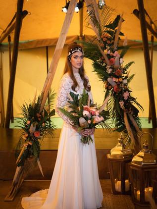 modern prairie bride