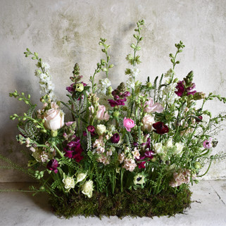 Caroline Clements wedding Flowers table setting