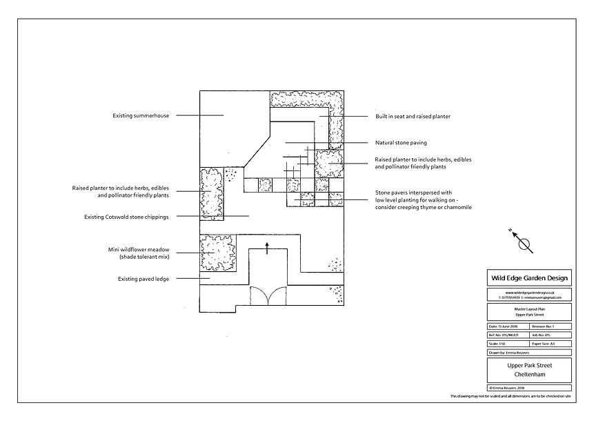 Wild Edge Garden Design, Cheltenham, Layout Plan