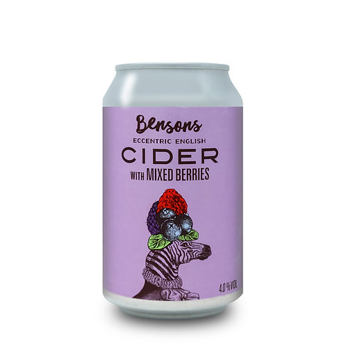 Bensons Mixed Berries Cider 330ml