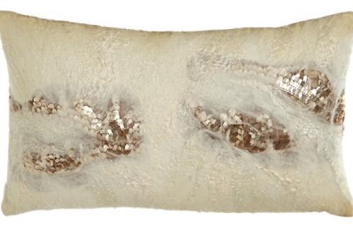 Aviva Stanoff Creme found Lace Cushion