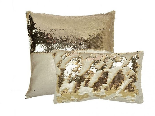 Aviva Stanoff Sequin in Champagne Cushion