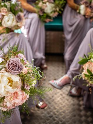 bridemaids in purple