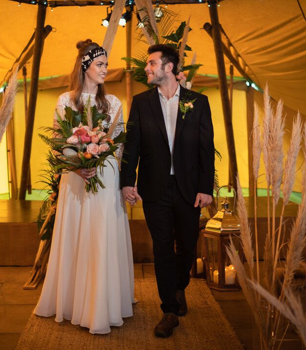 modern prairie wedding