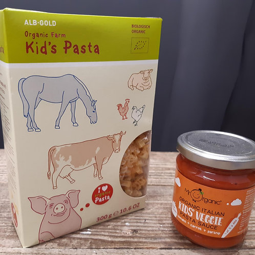 Kid's Organic Pasta Shapes & Sauce Bundle