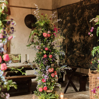 Caroline Clements wedding Flowers party garlands
