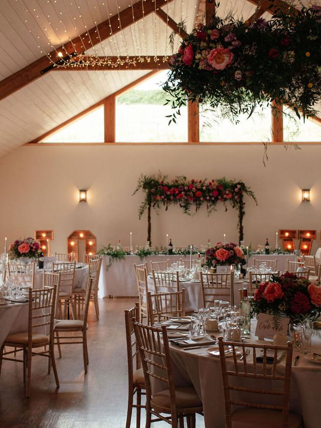 wedding breakfast hall