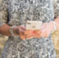 Lady holdinga phone