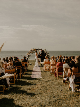 outdoor coastal wedding