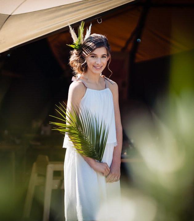 modern prairie bridesmaid