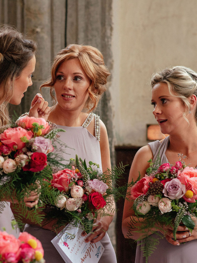 bridesmaids chatting