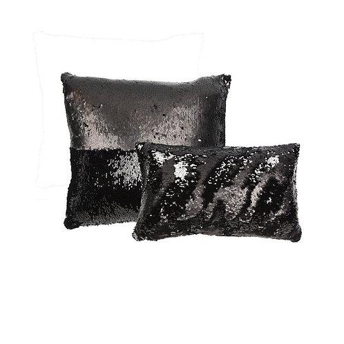 Aviva Stanoff Sequin in Black Cushion