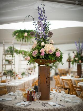 wedding breakfast flowers