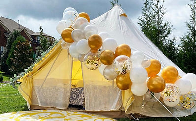 Glamping tent in Nashville, Tennessee