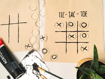 HAND PAINTED TIC-TAC-TOE