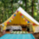 Rent a glamping bell tent in Nashville, TN