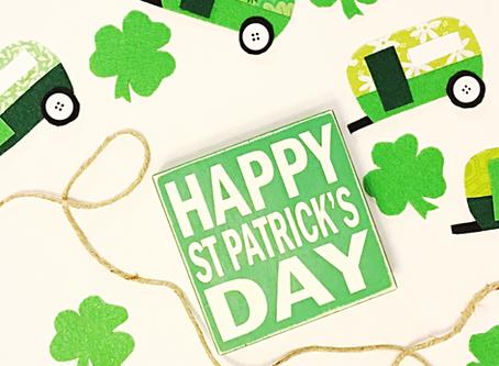 DIY St. Patrick's Day Camper Banner