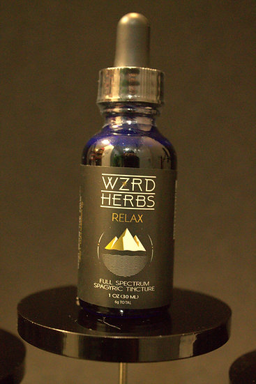 "Wizard Herbs ""Relax"" Tincture"