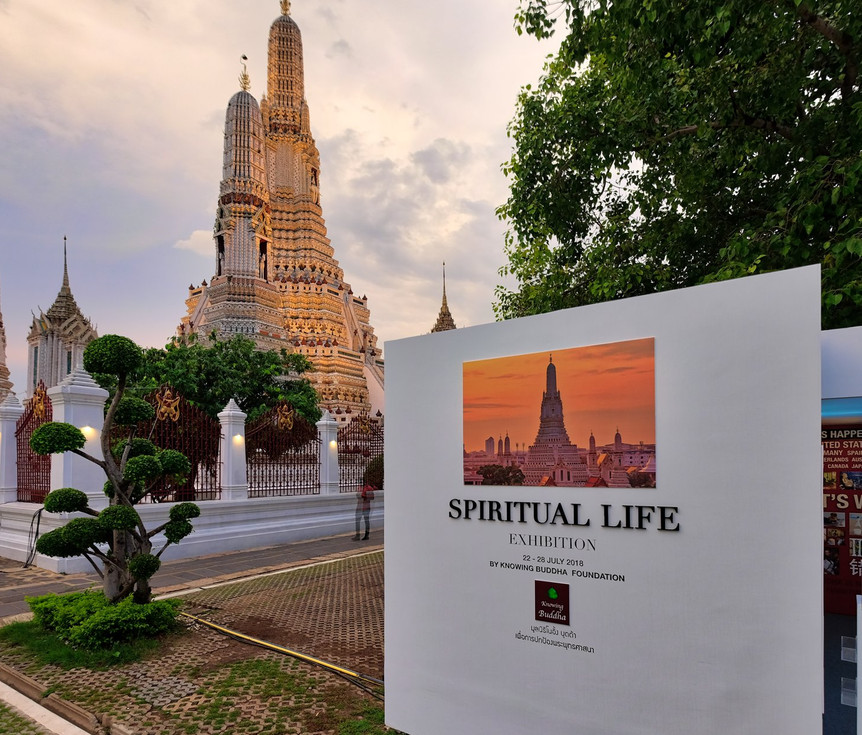 Spiritual life Exhibition at Wat Arun