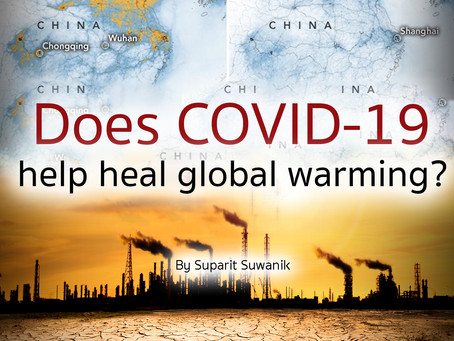 Does COVID-19 help heal global warming?