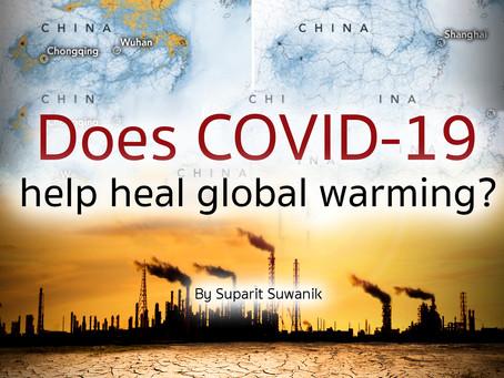 Does COVID-19 help heal global warming?
