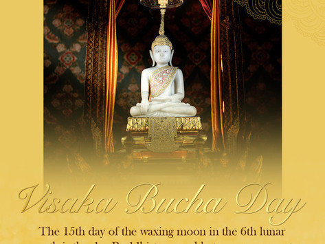 Visakha Bucha Day, The Day of  Vesak, The Miracle of the Avent of Buddha on the  Full Moon Night