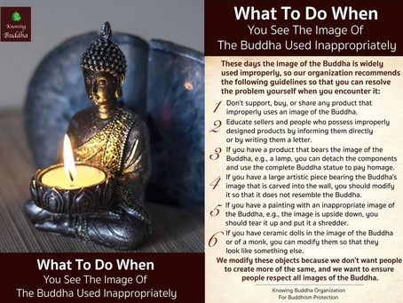 What To Do When You See The Image Of The Buddha Used Inappropriately