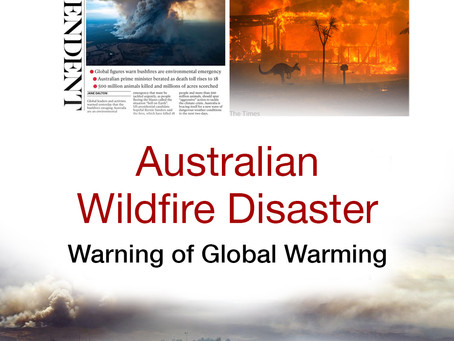 Australian wildfire disaster: warning of global warming