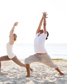 Canva - Couple Making Yoga Exercises Out