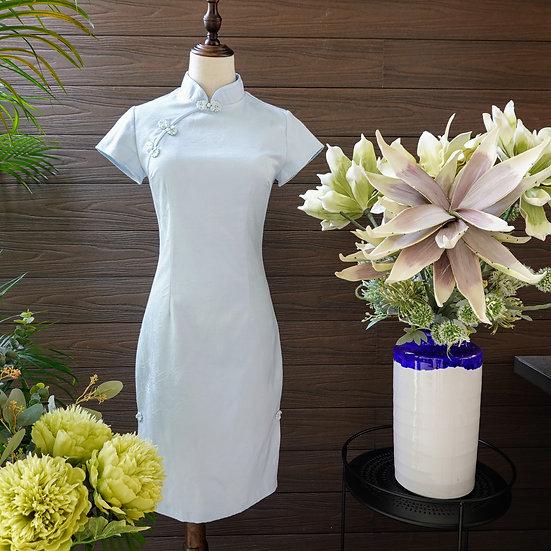 Pastel Bleue Cheongsam Dress