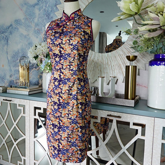 Golden Hana Akari Cheongsam Dress