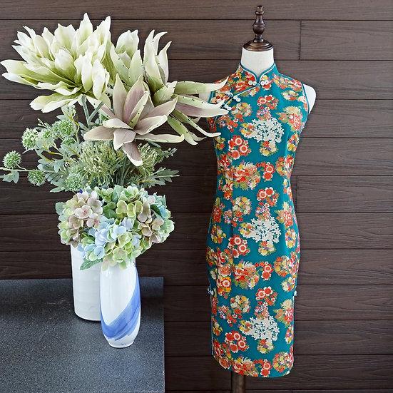 Vibrance Flora Hanazono Cheongsam Dress