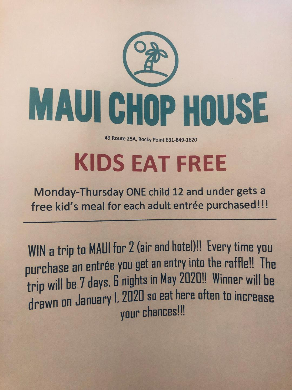 Maui Chop House Kids Eat Free