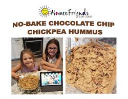 NO-BAKE CHOCOLATE CHIP CHICKPEA HUMMUS