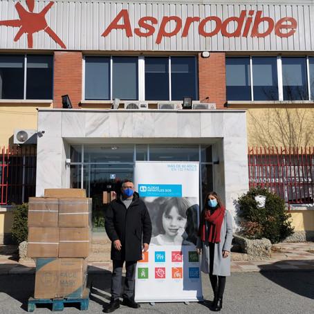 Asprodibe dona 10.000 mascarillas a Aldeas Infantiles