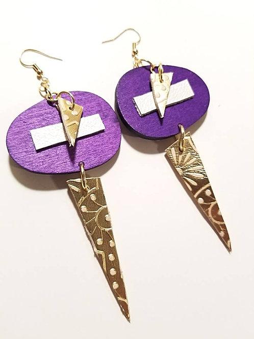 Geo in Purple & Gold