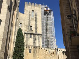 Palais des papes - Restauration des Tours du Pape et de la Garde-robe
