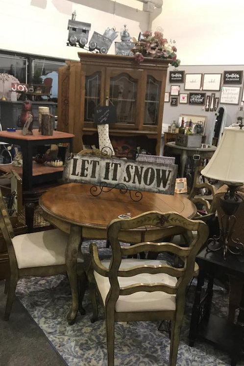 Kitchen/Dining Room Table Round w/ 4 Chairs - Unfinished