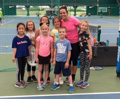 Tennis Camps with Jessica
