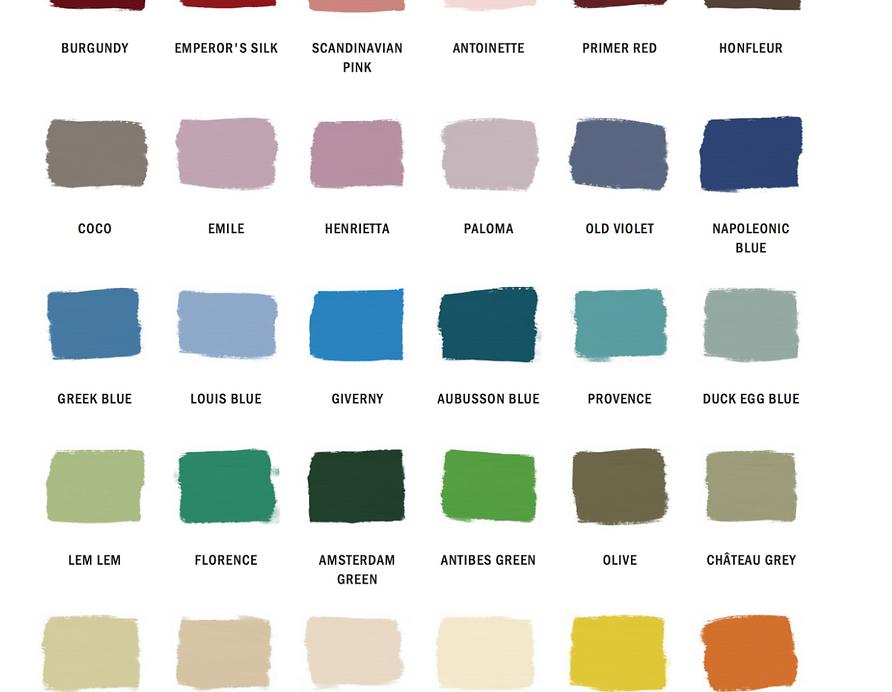 Available Pait Colors
