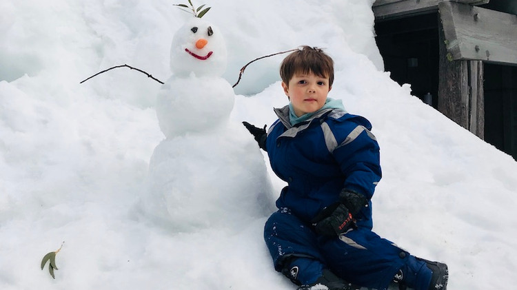 Snow man we made